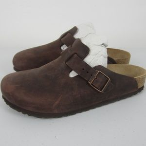 NEW Birkenstock Boston Habana Leather Clogs 39